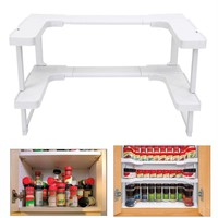 Smartlife Spicy Spice Shelf Rack 2 Layer Pantry Pan Pot Organizer Kitchen  Kitchen  Storage Cabinet Cupboard