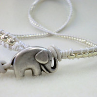 WrapLet, Lucky Elephant with Silver on Silver