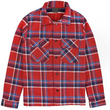 Naked & Famous Denim - Heavyweight Vintage Flannel Red Work Shirt