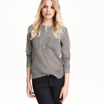 H&M Patterned Chiffon Blouse $24.99