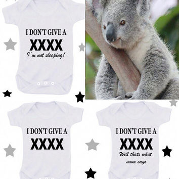 Just born or I'm cute mum's hot 1 x bodysuit 1 x T-shirt or 2 bibs or DESIGN YOUR OWN