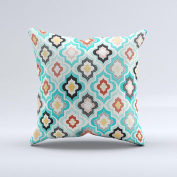 The Dotted Moroccan pattern ink-Fuzed Decorative Throw Pillow
