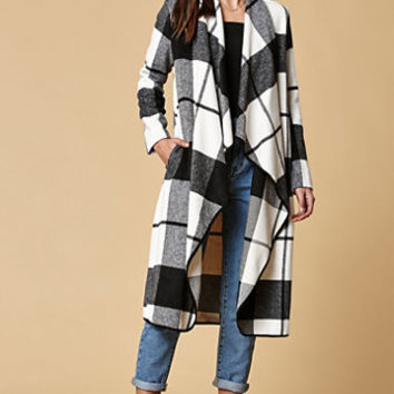 Lira Emerson Wool Blend Plaid Coat at PacSun.com