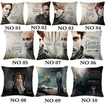 CREYET7 Game Thrones Linen cotton cushion covers game of thrones movie dakimakura pillow cases 3D cushions home decor throw pillow cover