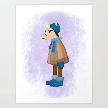 Cozy Coat Unicorn Stationery Cards by That's So Unicorny