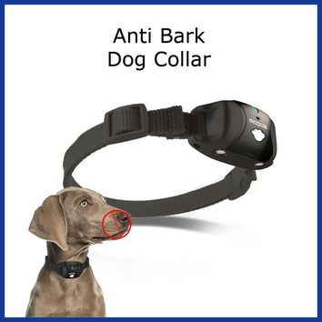 Dog Training Collar Rechargeable Remote Dog Bark Control Collar Advanced Bark Control Pet Trainer Shock Vibration