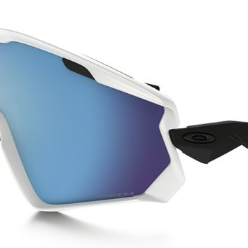 Oakley Wind Jacket 2.0 PRIZM Snow Goggle in MATTE WHITE / Prizm Snow Sapphire Iridium | Oakley