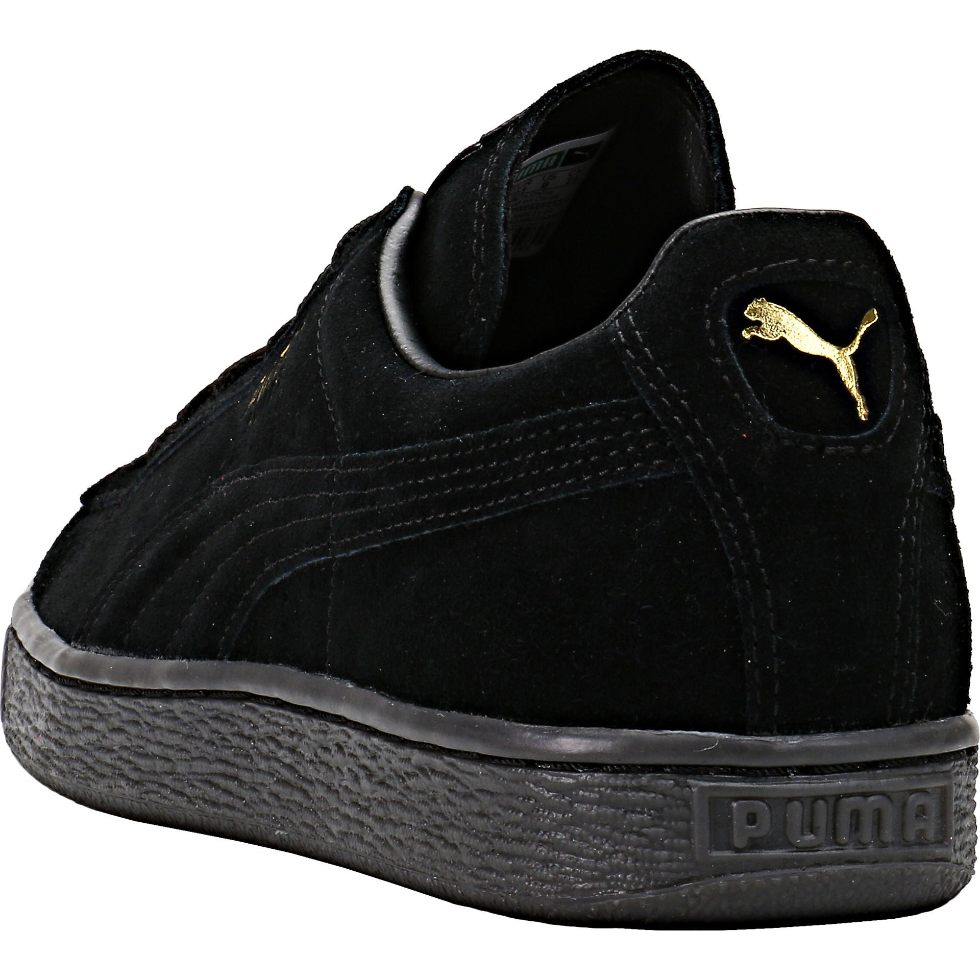 Puma Suede Mono Ice - Black Team Gold from NICE KICKS  2e0c263cbd