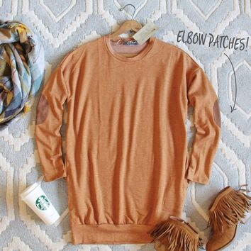 Cozy Sweatshirt Dress in Pumpkin