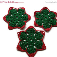 Special Birthday Sale coasters in Red & Green Christmas colors