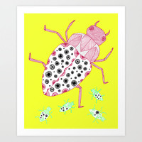 Roaches on a Sunny Day Art Print by lush tart | Society6