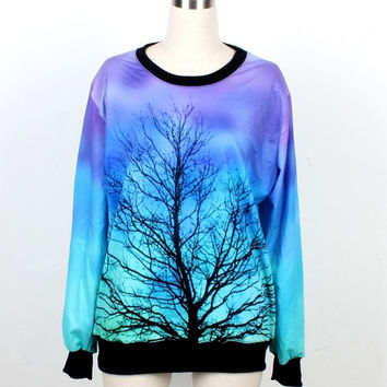Tree Sweatshirts 3d sweatshirt AURORA SKYE hoodies & sweatshirts Harajuku Women/Men galaxy Top Space Printed galaxy Hoodies ladies galaxy sweatshirts