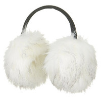 SNO Faux Fur Earmuffs - White