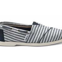 Navy Stripe Nautical Women's Biminis
