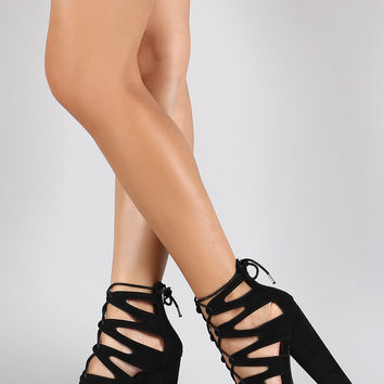 339ad436f52 Wild Diva Lounge Caged Lug Sole Platform from URBANOG