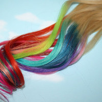 Rainbow Dipped Dyed Hair  iTips Pre Bonded Keratin by Cloud9Jewels