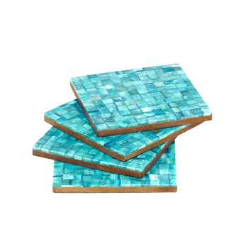 Congo in Turquoise Coasters
