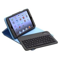 Aduro FACIO Case with Bluetooth Removable Keyboard for Apple iPad Mini (Grey/Turquoise)