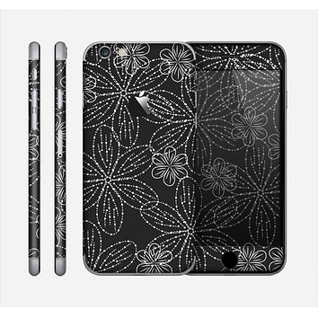 The Black & White Floral Lace Skin for the Apple iPhone 6