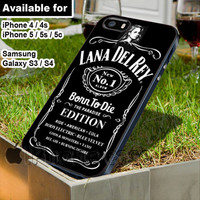 lana del rey whiskey Daniels WN for iPhone 4 / 4s / 5 / 5s / 5c case, Samsung Galaxy S3 / S4 case