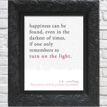 literary art print / book or movie quote // harry potter and the prisoner of azkaban; j.k. rowling