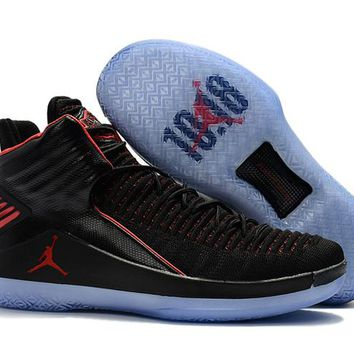 Nike Air Jordan 32 XXXII Retro AJ32 Black/Red Sneaker Shoes US7-12
