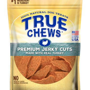 True Chews Premium 100% Jerky Cuts Turkey Flavor