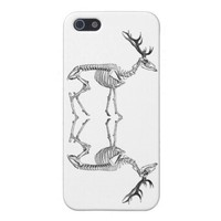Spooky vintage skeleton reindeer drawing iPhone SE/5/5s case