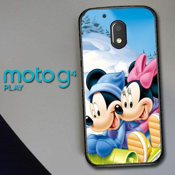 Mickey Mouse And Minnie Mouse X4965 Motorola Moto G4 Play Case