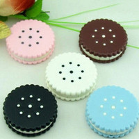 GOOD Travel Cartoon Cookies Shape Contact Lens Case Box Container Holder FINe