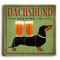 Dachshund Brewing Co by Artist Ryan Fowler Wood Sign