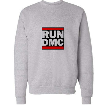 run dmc sweater Gray Sweatshirt Crewneck Men or Women for Unisex Size with variant colour