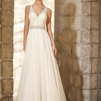 Blu by Mori Lee 5371 Soft Tulle Wedding Dress