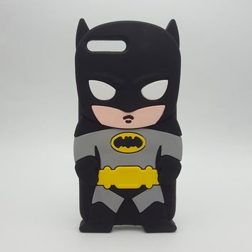 Batman Dark Knight gift Christmas Soft Silicone Phone Case For iPhone X 8 7 7Plus Cute 3D Cartoon Batman Rubber Cover For iPhone 6 6S Plus Protective shell AT_71_6