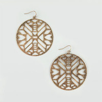 FULL TILT Ethnic Cut Out Earrings