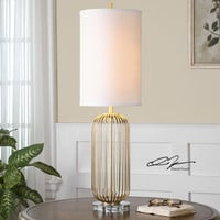 Uttermost Cesinali Gold Table Lamp