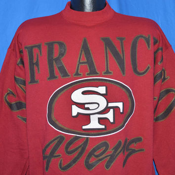 90s San Francisco 49ers Logo 7 Crewneck Sweatshirt Large
