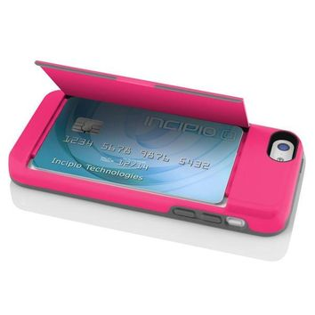 The Pink Stowaway? Credit Card Case With Integrated Stand For Iphone 5c