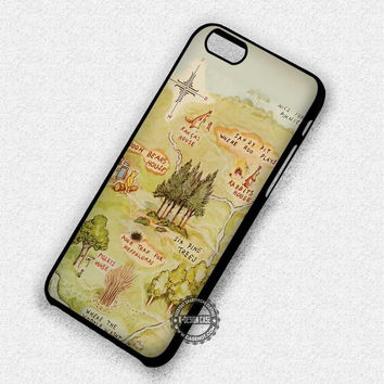 Cute Map Winnie The Pooh - iPhone 7 6 Plus 5c 5s SE Cases & Covers