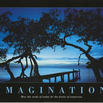 Imagination Inspirational Quote Poster 24x34