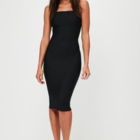 Missguided - Black Strapless Bandage Bodycon