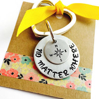 No Matter Where Necklace Hand Stamped Sisters Necklace    Best Friends Necklace Mother and Daughter Necklace