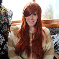 SALE Auburn wig . Red wig . Straight Wavy Hair, scene wig, cosplay wig, Tauriel wig, Lord of the Rings wig // Sunrise
