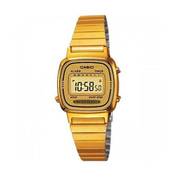Casio La670wga 9d Womens Gold Tone Digital Watch Digital Retro Alarm Chronograph