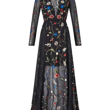 Black Embroided Maxi Dress - View All - New In