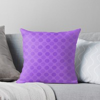 'Faded purple circles pattern' Throw Pillow by steveball