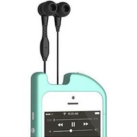 NEW TurtleCell Retractable Headphone Case iPhone 5/5s - Retail Packaging - Aqua