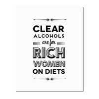 Typography Print, Quote Print, Ron Swanson Quote, Parks and Rec, Black White, Wall Decor - Rich Women (8x10)