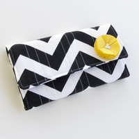 Women's Wallet Black and White Chevron by AccessoriesByBethany