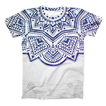The Ethnic Indian Vector Ornament ink-Fuzed Unisex All Over Full-Printed Fitted Tee Shirt